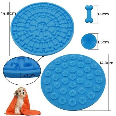 15cm Round Silicone Dog Puppy Lick Mat Soother Treat Boredom Pets Dogs