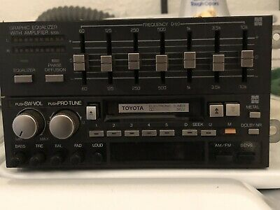 Vintage  Toyota Car Stereo & Graphic Equalizer Cassette Am/Fm Model 86120-32040