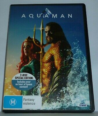 Aquaman DVD 2018  2-disc special edition Free Postage