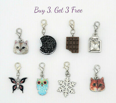 Buy 3 Get 3 Free! Cute clip on dangle charms with lobster clasp for bracelet
