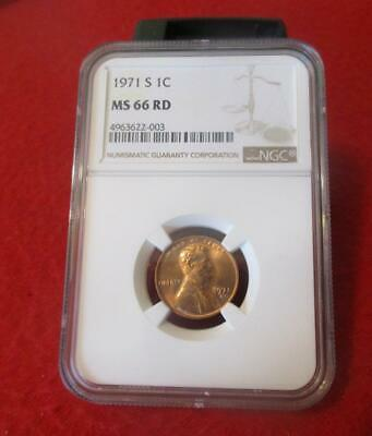 1971-S  NGC MS 66 RD Red Lincoln Memorial Cent                         #MF-1466