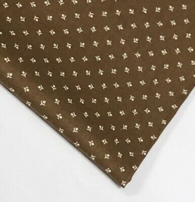 """New """"The Henry Ford"""" Brown Floral Quilting Cotton Windham Fabrics Fat Quarter"""