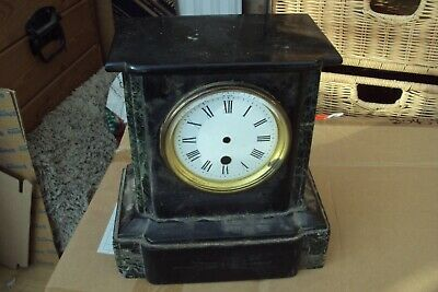 Antique Victorian Slate Mantel Clock For Spares Or Repair.