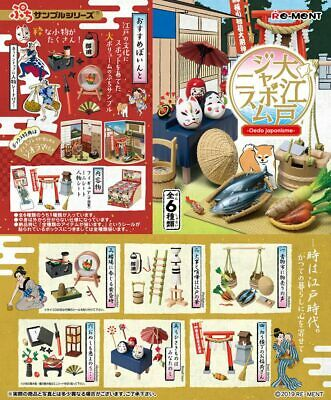 New RE-MENT Miniature Petit Sample Oedo Japonisme 750YEN rement Full set of 6