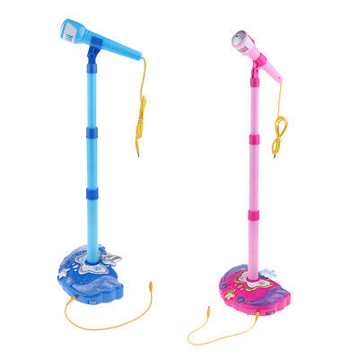 2pcs Karaoke Disco Light Adjustable Stand With Microphone Singing