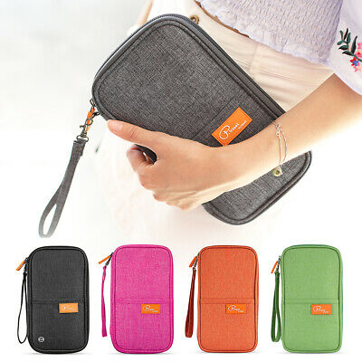 Travel Wallet RFID Blocking Passport Holder Passport Holder With Zipper X1Z2