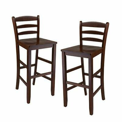 Super 2 Winsome Bar Stools Solid Wood Pacey Color Espresso 29 In X Ibusinesslaw Wood Chair Design Ideas Ibusinesslaworg