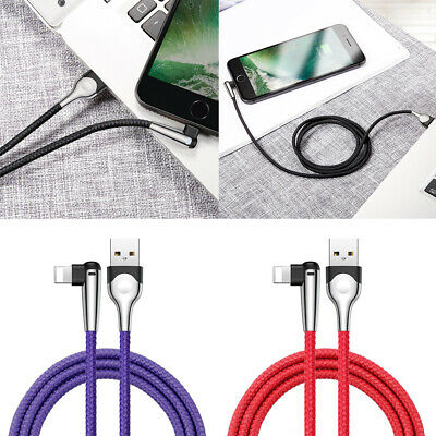 Baseus 90 Degree Right Angle USB Charger lightning Cable For Apple iPhone iPad