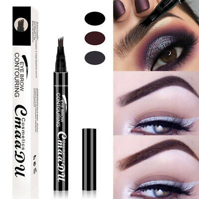 Microblading Tattoo 4 Forks Eyebrow Pen Waterproof Long Lasting Natural Makeup