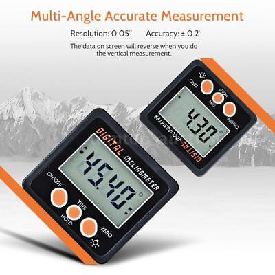 Mini LCD Digital Inclinometer Protractor Bevel Box Angle Gauge Magnet Base T5M3