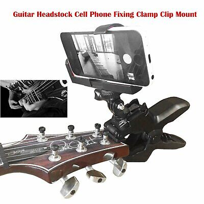 Phone Fixing Clamp Clip Guitar Headstock Mount For Gopro Action Cameras & Phone