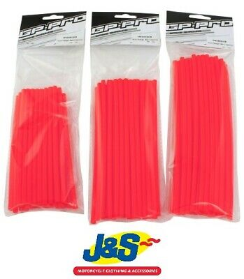 Bike It GP Pro Spoke Shrouds 21CMS Red SPKSHR21R Motorcycle Wheel Wrap Spare J&S