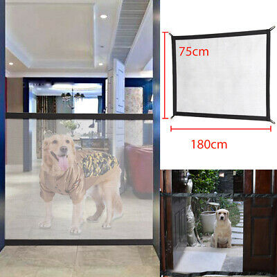UK Mesh Magic Pet Dog Gate Guard Pet Safety Enclosure Fence Easy Install Gifts
