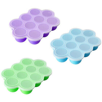 Baby Weaning Food Freezer Tray 10 Pots Storage Container With Lid BPA Free