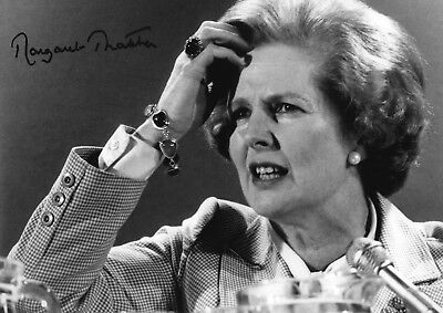 Margaret Thatcher A4 signed photograph poster Choice of frame.
