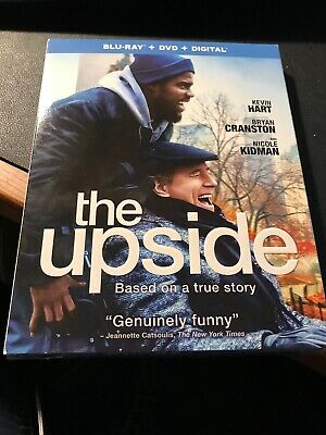 The Upside (Blu-ray, 2019, DVD, iTunes Digital HD) Kevin Hart, Bryan Cranston