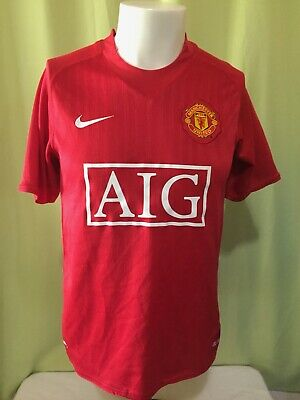 b1530b480 Ronaldo  7 Manchester United Nike Fit Dry Men s Red Jersey Size Small The  Red