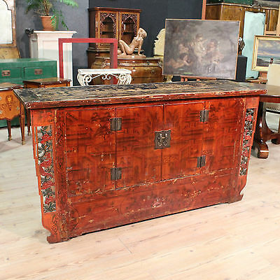 Cupboard Oriental Wooden Painted Dresser Living Room Furniture Antique Style 2
