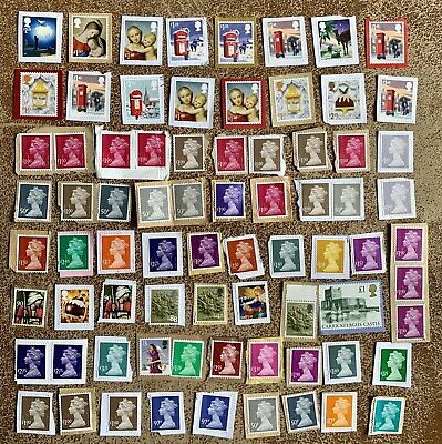 Gb Modern Collection Of Mixed High Value Unfranked Definitive Stamps Kiloware