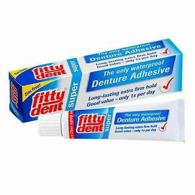 NC Fittydent Denture Adhesive 20g Waterproof & Long Lasting Extra Firm Hold