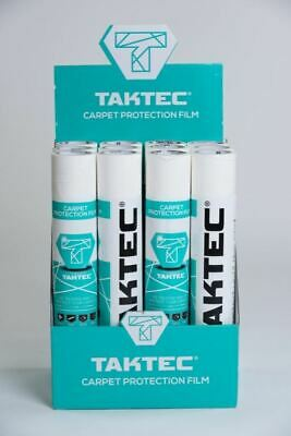 Taktec Self Adhesive Carpet Film 600mm x 50m DIY Dust Sheets 172099