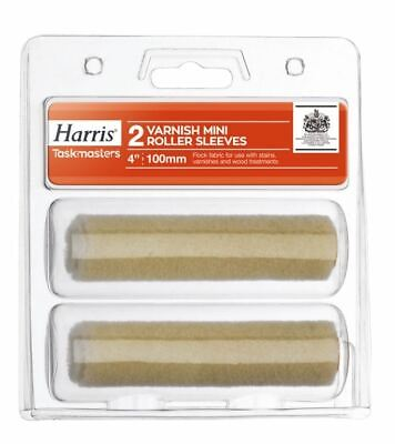 "Harris Taskmasters Varnish Mini Roller Sleeves - 2 Pack 4"" DIY Dust Sheets 4145"