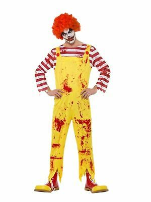 Clown Mens Costume Halloween Horror Fancy Dress Outfit Adult Party Dressup