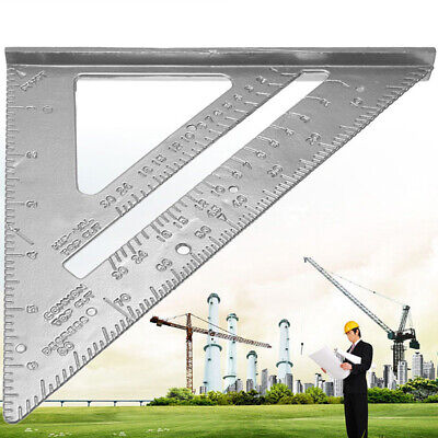 "Aluminum Alloy Measuring Square Speed 7"" Triangle Ruler Protractor Metal Fram x1"
