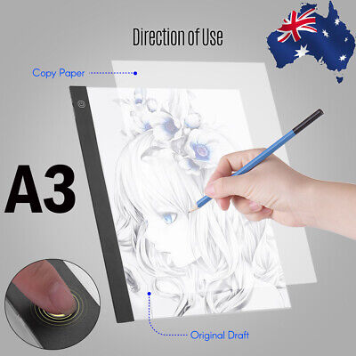 LED A3 Light Panel Graphic Tablet Copyboard w/ 3-Level Dimmable Brightness Pad