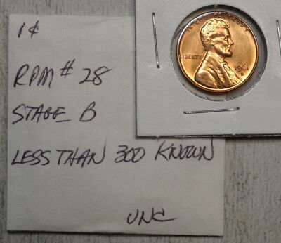 1961-D Lincoln Cent, Repunched Mintmark, RPM #28, Choice Uncirculated   1104-03