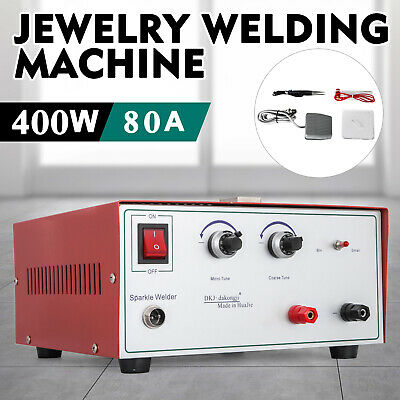 80A 400W Spot Welder Jewelry Welding Machine 110V palladium pulse sparkle red