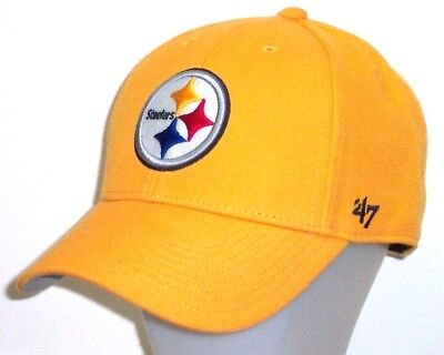 171c6bcd1a955e Pittsburgh Steelers '47 Brand NFL MVP Adjustable Structured Gold Hat / Cap