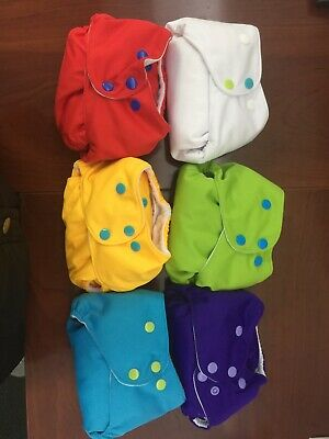 Lalabye baby Cloth Diapers With bamboo inserts, Lot Of 6 Plus Additional Inserts