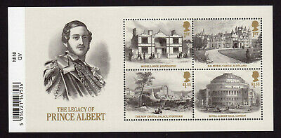 2019 QUEEN VICTORIA LEGACY OF PRINCE ALBERT Mini Sheet Mint  WITH BARCODE MARGIN