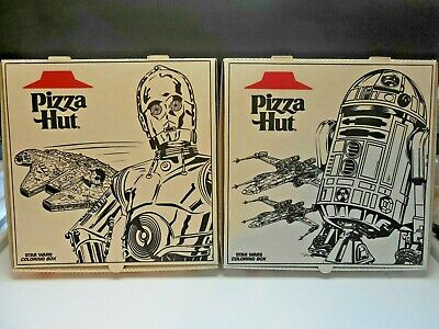 2 Pizza Hut Star Wars Carry-Out Boxes Unused  From 1997