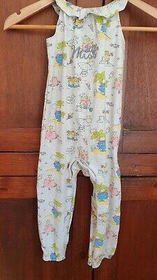 BNWT Girls Mr Men Little Miss All In One Beach Scene Babygrow Age 18  24 months