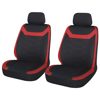 DACIA SANDERO Front Pair of SPORTMAX Red//Black Car Seat Covers