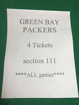 DENVER BRONCOS at GREEN BAY PACKERS   4 tickets section 111
