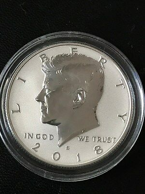 2018 S Reverse Proof Silver Kennedy Half Dollar Rare  and in airtite capsule