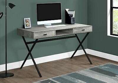 "Monarch Specialties I 7448 Computer Desk 48""L Grey Reclaimed Wood Black Metal"