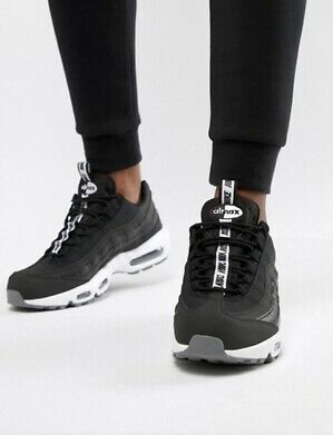 watch 21dcf 81262 NEW Nike Air Max 95 SE PULL TAB UK6 Black White Unisex trainers