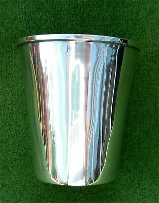 GOOD SIZED CONTINENTAL 900 GRADE SOLID SILVER BEAKER - NO ENGRAVING - 3.68 ozt