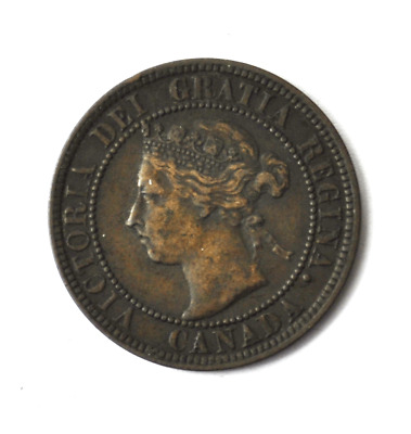 1901 1c Canada Large One Cent Penny KM#7  Bronze Coin