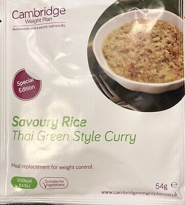6 x Cambridge Weight Plan Meal replacement Diet Thai Green Curry