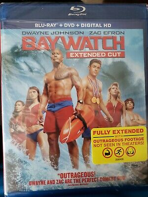 Baywatch Blu-Ray + DVD [Extended Cut Edition] New Includes Digital HD unopened