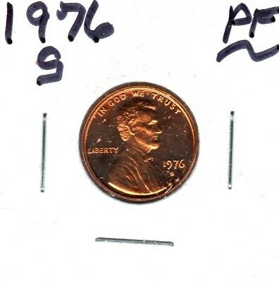 1976-S Lincoln Memorial Cent Gem Proof Cameo Might Sell To 1St Bid #C932