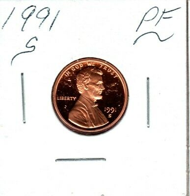1991-S Lincoln Cent Gem Proof Cameo Might Sell 1St Bidder.. Bid Now #C805