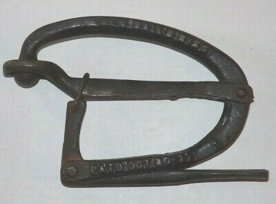 Antique Cast Iron Bull Cattle Nose Lead New Ball & Ring Oct 30 17 Primitive Cow