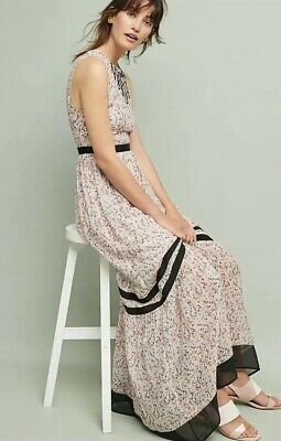 97202981dc1d6 NWT Sz 2 Anthropologie Tracy Reese Parida Floral Maxi Dress $208 Ditsy Lined