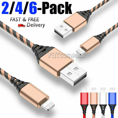 3/6/10 ft iPhone XS MAX XR 8 7 6S USB Lightning Charging Charger Cable Data Cord